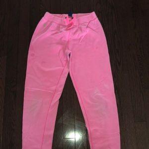 Pink Ralph Lauren jogger pants